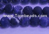 CSO454 15.5 inches 6mm round matte sodalite gemstone beads