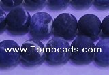 CSO455 15.5 inches 8mm round matte sodalite gemstone beads