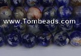 CSO512 15.5 inches 8mm round orange sodalite beads wholesale