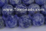 CSO535 15.5 inches 14mm round matte African sodalite beads wholesale
