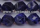 CSO554 15.5 inches 12mm faceted nuggets sodalite gemstone beads