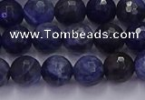 CSO602 15.5 inches 8mm faceted round sodalite gemstone beads