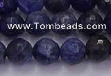 CSO603 15.5 inches 10mm faceted round sodalite gemstone beads