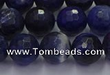 CSO604 15.5 inches 12mm faceted round sodalite gemstone beads