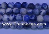 CSO620 15.5 inches 4mm faceted round AB grade sodalite beads