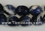 CSO64 15.5 inches 11*15mm nuggets sodalite gemstone beads wholesale