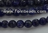CSO642 15.5 inches 6mm faceted round sodalite gemstone beads