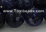 CSO648 15.5 inches 18mm faceted round sodalite gemstone beads