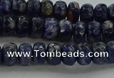 CSO662 15.5 inches 5*8mm faceted rondelle sodalite gemstone beads