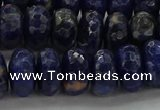 CSO664 15.5 inches 7*12mm faceted rondelle sodalite gemstone beads