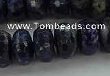 CSO665 15.5 inches 8*14mm faceted rondelle sodalite gemstone beads