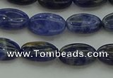 CSO678 15.5 inches 8*12mm oval sodalite gemstone beads