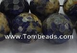 CSO757 15.5 inches 18mm faceted round orange sodalite beads