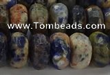 CSO765 15.5 inches 8*14mm faceted rondelle orange sodalite beads
