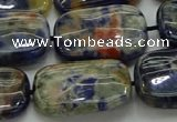 CSO793 15.5 inches 18*25mm rectangle orange sodalite beads
