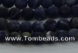 CSO811 15.5 inches 6mm round matte sodalite gemstone beads