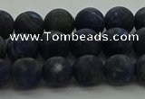 CSO812 15.5 inches 8mm round matte sodalite gemstone beads