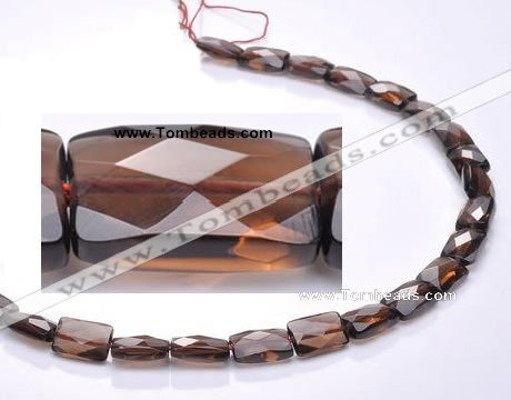 CSQ06 8*12mm faceted rectangle natural smoky quartz beads