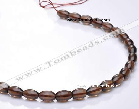 CSQ16 A grade 7*10mm rice natural smoky quartz beads Wholesale