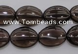 CSQ234 15.5 inches 13*18mm oval grade AA natural smoky quartz beads