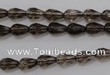 CSQ242 6*10mm faceted teardrop grade AA natural smoky quartz beads