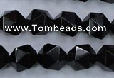 CSQ355 15.5 inches 14mm faceted nuggets smoky quartz beads