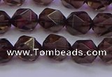 CSQ523 15.5 inches 10mm faceted nuggets smoky quartz beads
