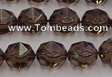 CSQ528 15.5 inches 10mm faceted nuggets smoky quartz gemstone beads