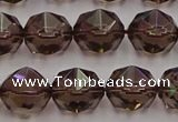CSQ529 15.5 inches 12mm faceted nuggets smoky quartz gemstone beads