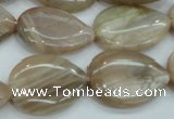 CSS207 15.5 inches 18*25mm flat teardrop natural sunstone beads