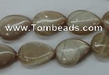 CSS220 15.5 inches 13*18mm flat teardrop natural sunstone beads