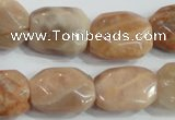 CSS258 15.5 inches 15*20mm faceted rectangle natural sunstone beads