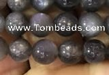 CSS315 15.5 inches 6mm round black sunstone gemstone beads