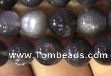 CSS316 15.5 inches 8mm round black sunstone gemstone beads