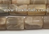 CSS400 15.5 inches 8*10mm - 8*13mm tube sunstone beads wholesale