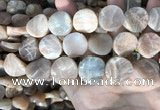 CSS439 15.5 inches 20mm twisted coin sunstone beads wholesale