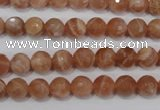 CSS502 15.5 inches 7mm faceted round natural golden sunstone beads