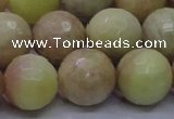 CSS618 15.5 inches 20mm faceted round yellow sunstone gemstone beads