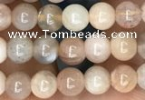 CSS690 15.5 inches 4mm round sunstone beads wholesale