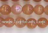 CSS708 15.5 inches 4mm round natural golden sunstone beads