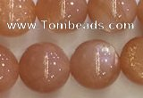 CSS711 15.5 inches 10mm round natural golden sunstone beads
