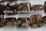 CST09 15.5 inches 14*14mm square staurolite gemstone beads wholesale