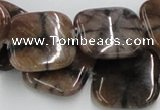 CST11 15.5 inches 22*22mm square staurolite gemstone beads wholesale