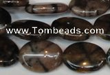 CST25 15.5 inches 15*20mm oval staurolite gemstone beads wholesale