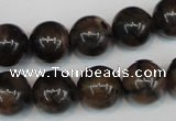 CST39 15.5 inches 14mm round staurolite gemstone beads wholesale