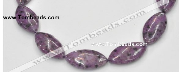 CSU24 AB grade 20*40mm flat rice dyed natural sugilite beads
