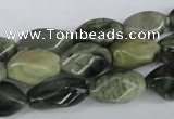 CSW114 15.5 inches 8*16mm twisted rice seaweed quartz beads wholesale