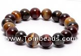 CTB07 7 inches 10mm round tiger eye stretch bracelet wholesale