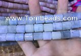 CTB251 15.5 inches 10*12mm tube natural aquamarine beads