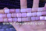 CTB256 15.5 inches 10*10mm - 10*13mm tube natural pink opal beads